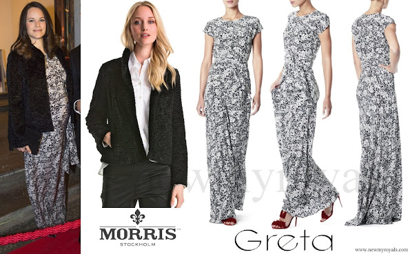 Princess Sofia wore Greta Gown and Morris Jacket for Charity Dinner, jewelery, diamond, newmyroyals, earrings