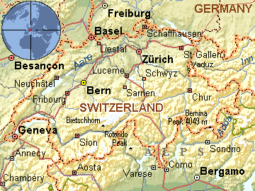 mapa svajcarske Per@ Travel: ŠVAJCARSKA mapa svajcarske