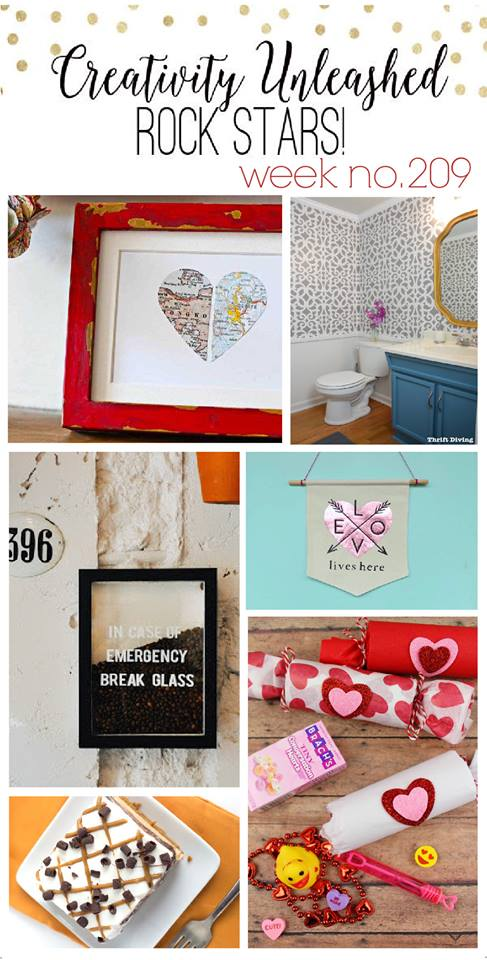 Bathroom Makeover Feature and Creativity Unleashed #210 at MyLove2Create