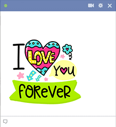 Love you forever - Sticker for Facebook