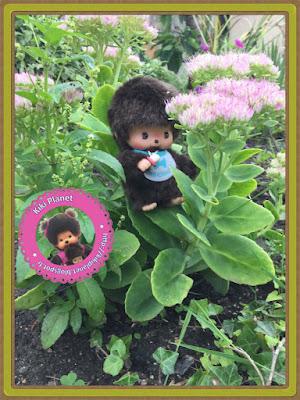 baby bebichhichi monchhichi kiki bubbles Diana titian tortue chute fleur foret nostalgdykiki green