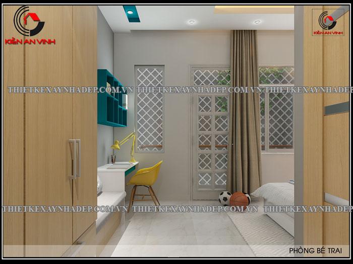 Mẫu thiết kế nhà ống 2 tầng diện tích 4x14 ở quê gia đình chị Lan Phong-ngu-be-trai2