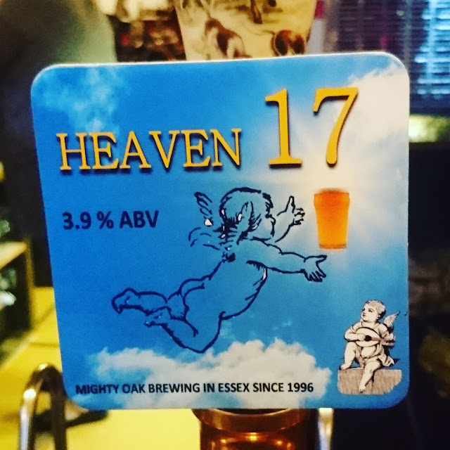 heaven 17 craft beer pump clip from mighty oak brewing