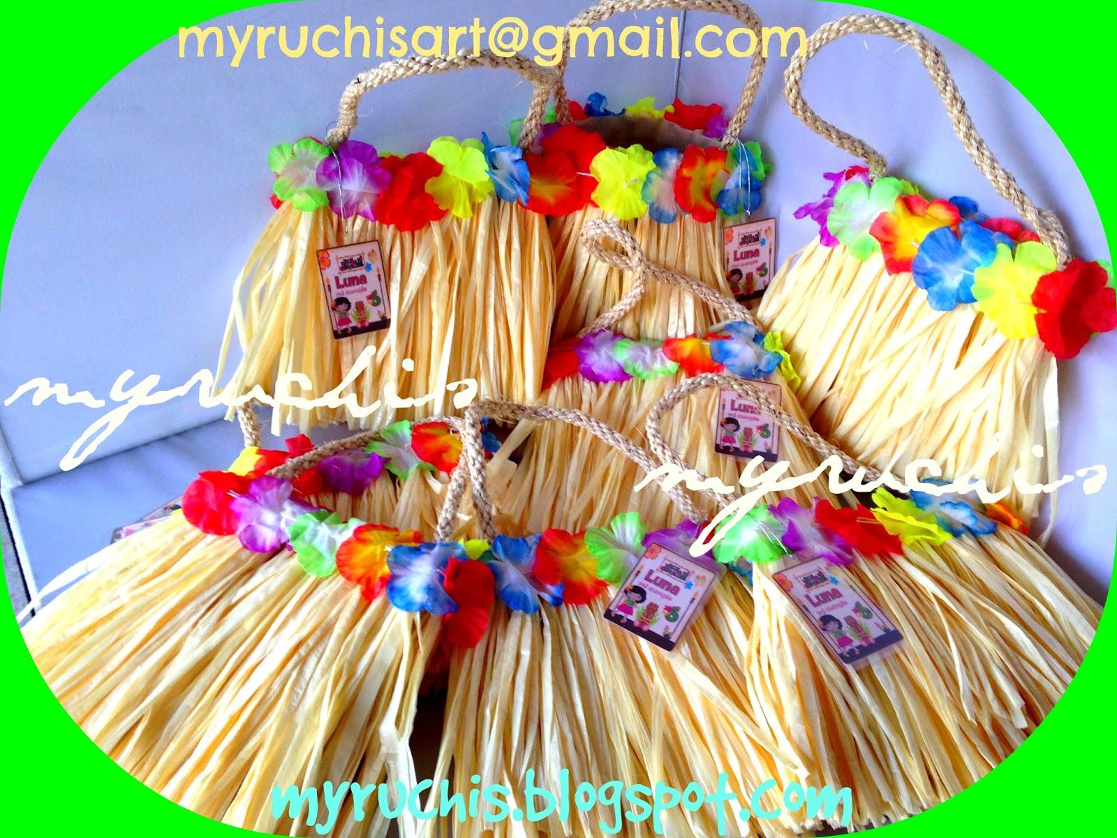 4cbe8dad1 Dulceros Fiesta Hawaiana. Dulceros para la niñas en la fiesta de una nena  de Villahermosa