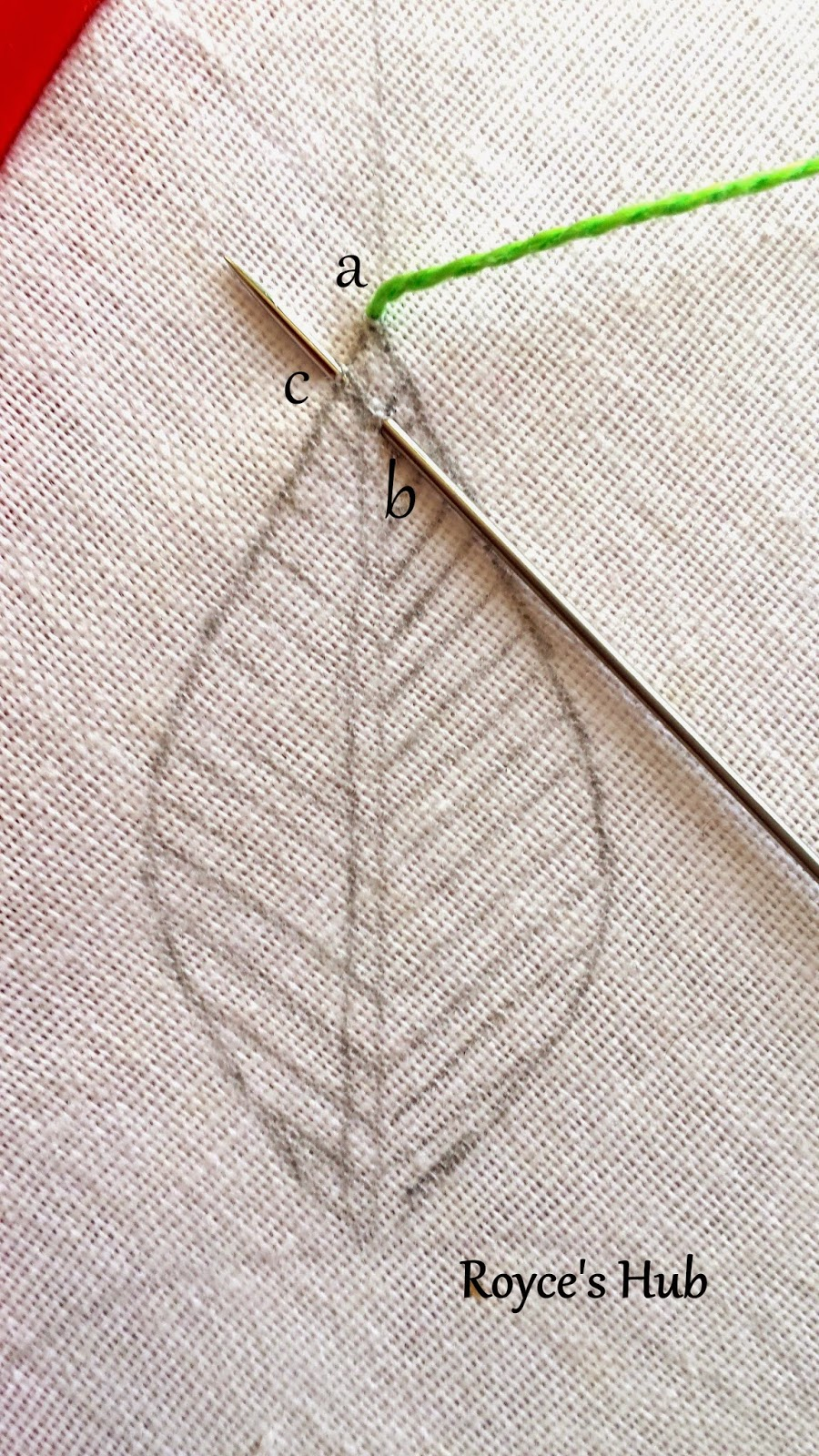 Royce's Hub: Embroidery Stitches For Leaves : Fishbone