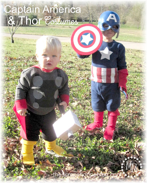 DIY Captain America and Thor Costumes