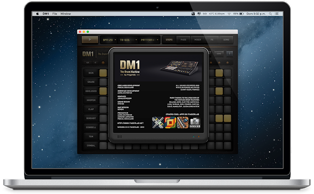 dm1 the drum machine v2 0 mac os x mega descargar gratis. Black Bedroom Furniture Sets. Home Design Ideas