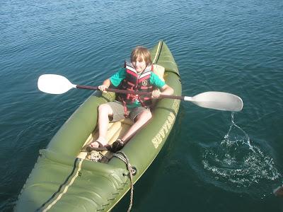 Two man inflatable kayak