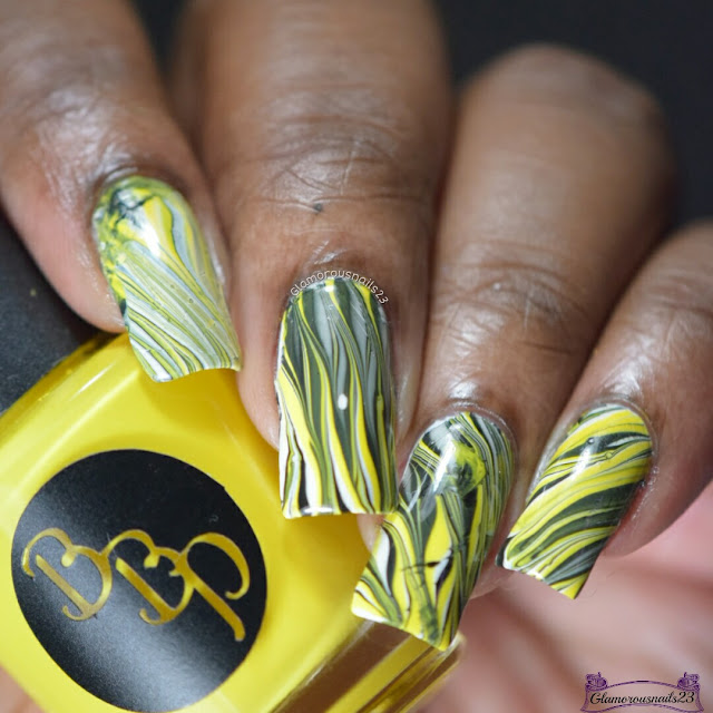 Watermarble Wednesdays: Yellow, Black & White