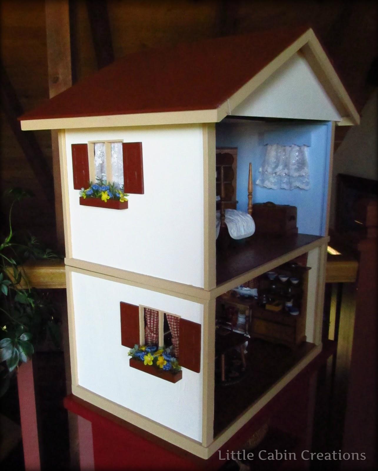 """MAKE DO DOLLS"": Hall's Lifetime Toys Dollhouse Finished"
