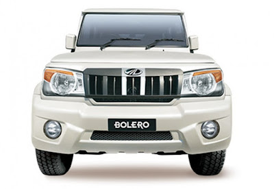 Mahindra Bolero Power Plus front view White
