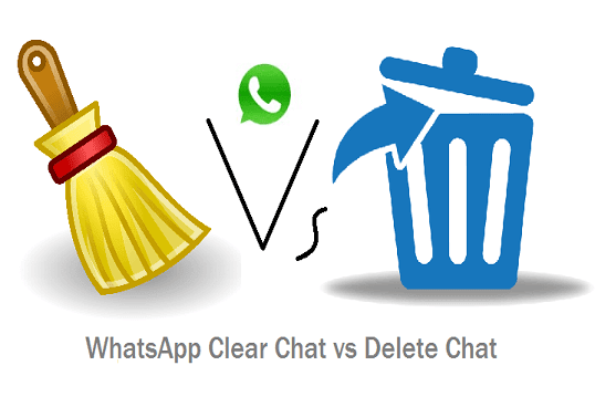 WhatsApp clear chat vs delete chat