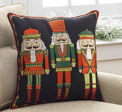 RAZ Nutcracker Pillow at Trendy Tree