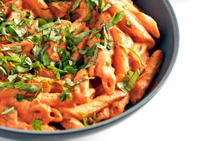 Tomato Basil Cream Pasta  #pasta#food