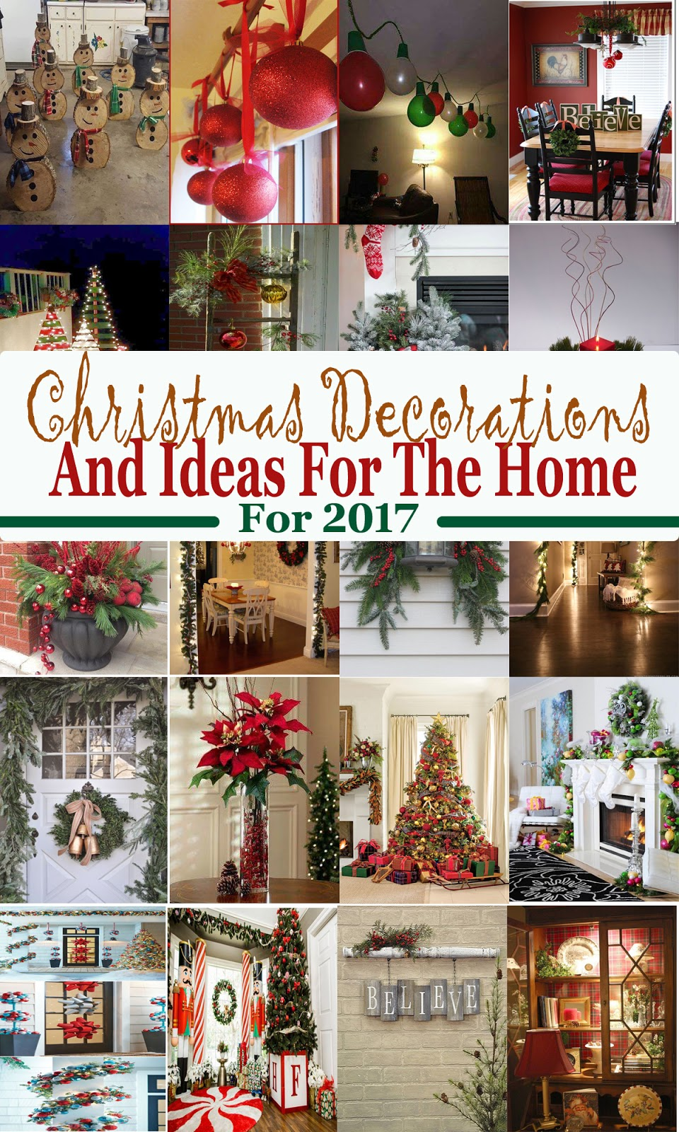 christmas decorations and ideas for the home for 2017
