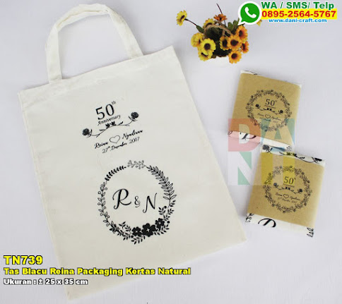 Tas Blacu Pipih 25x35cm Packaging Kertas Natural