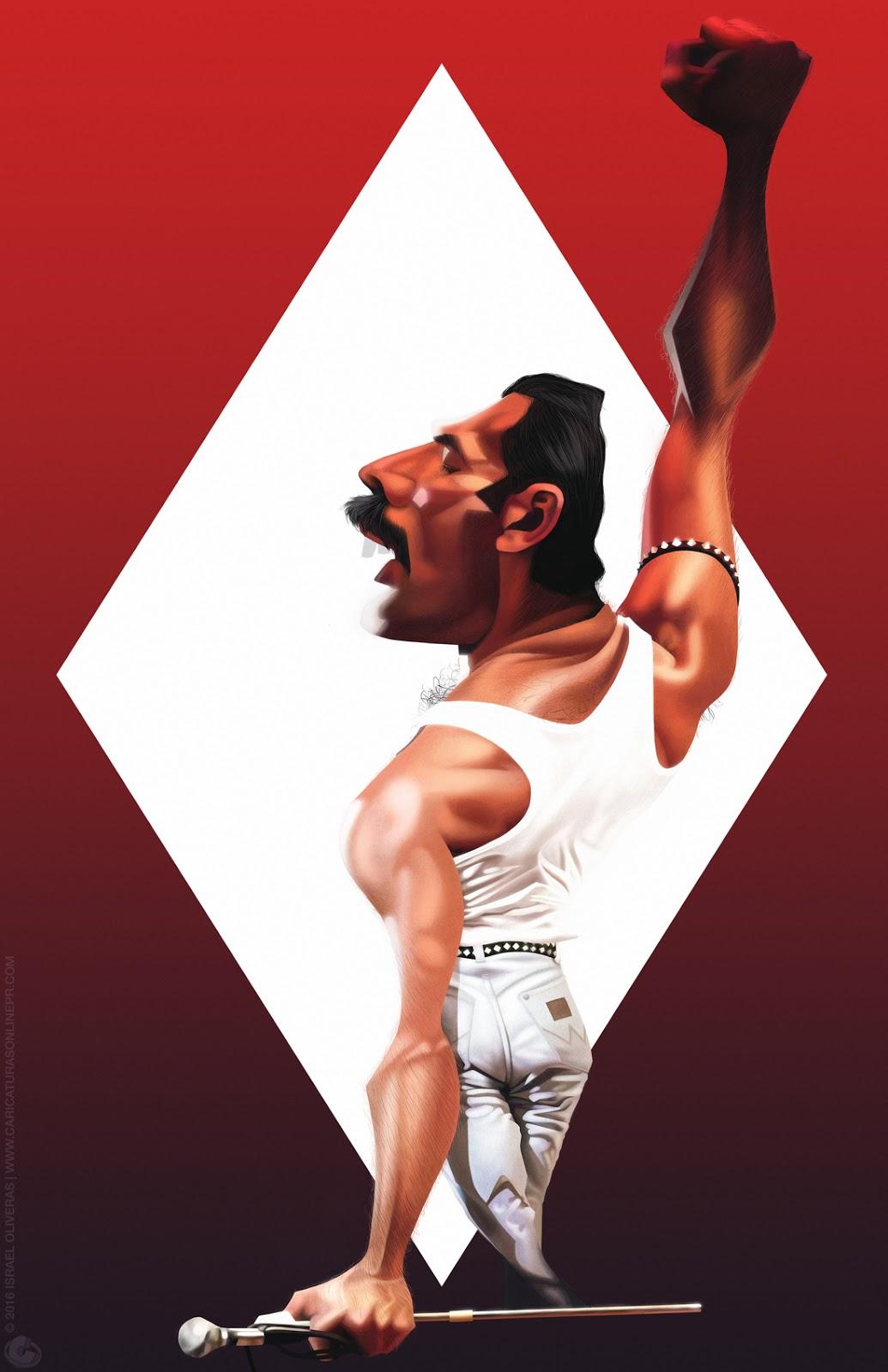Freddie Mercury por Israel Oliveras