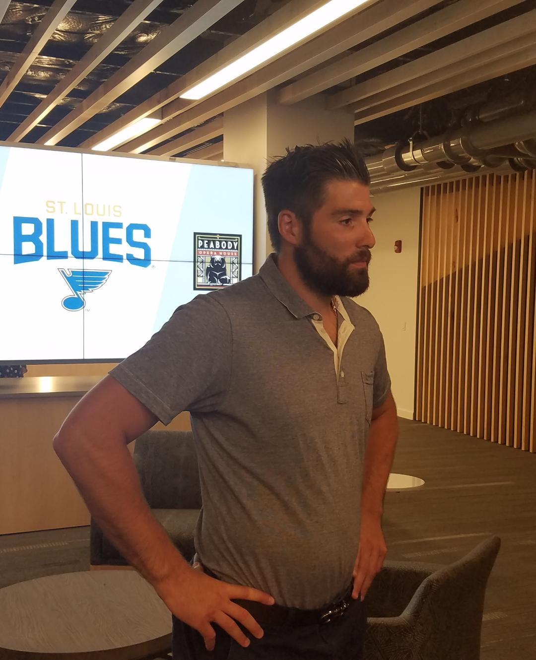 Pat Maroon meets with the media after signing a one-year f4b6eb9cef3