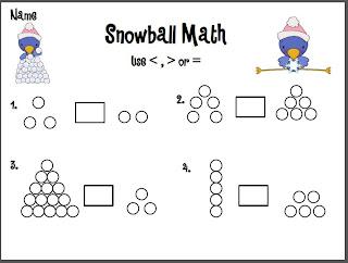 Kindergarten At Heart: Snowball Math