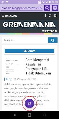 Untuk melakukan screenshot, Sobat klik logo yang berada di tengah bawah.