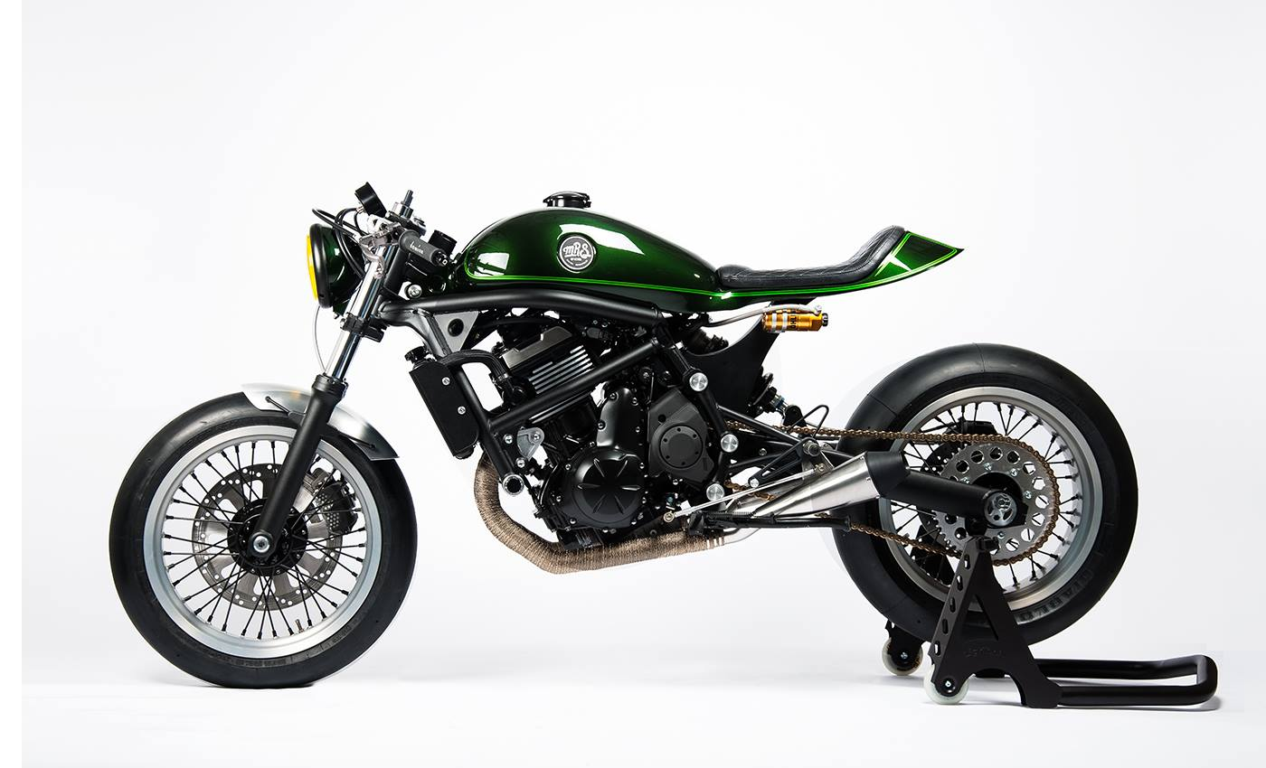 racing caf kawasaki vulcan s by mrs oficina. Black Bedroom Furniture Sets. Home Design Ideas