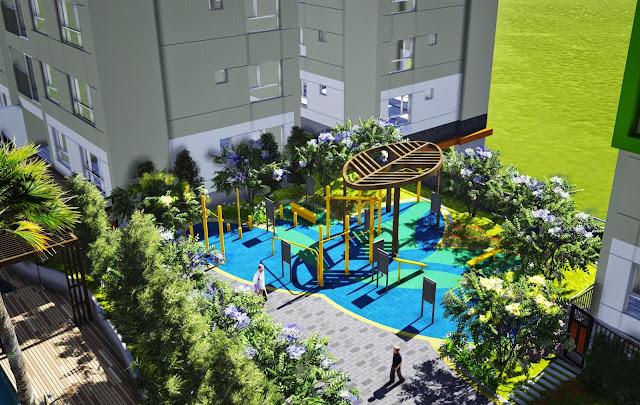 Khuôn viên xanh tiện ích bên trong khu dự án