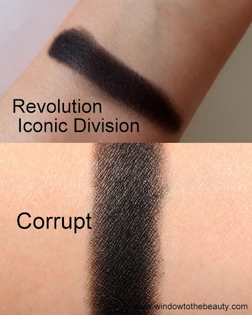 Makeup Geek Corrupt dupes swatches