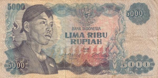 5 ribu rupiah 1968 depan