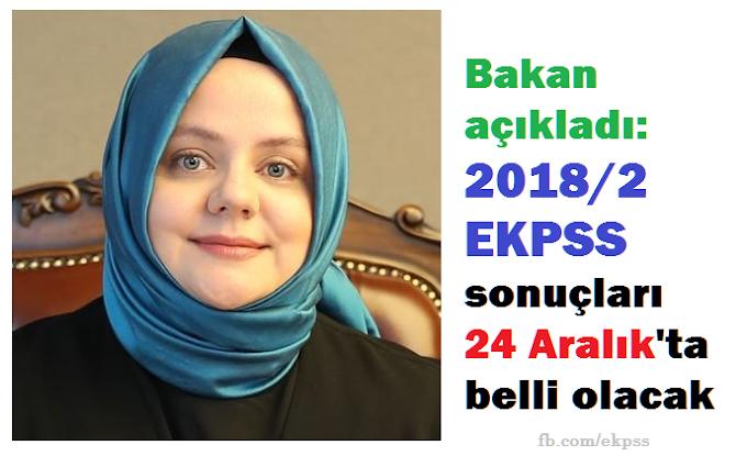 2018/2 EKPSS tercih sonuçları 24 Aralık'ta belli olacak