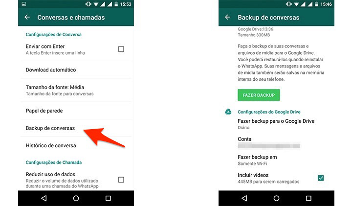 como fazer backup do whatsapp no pc