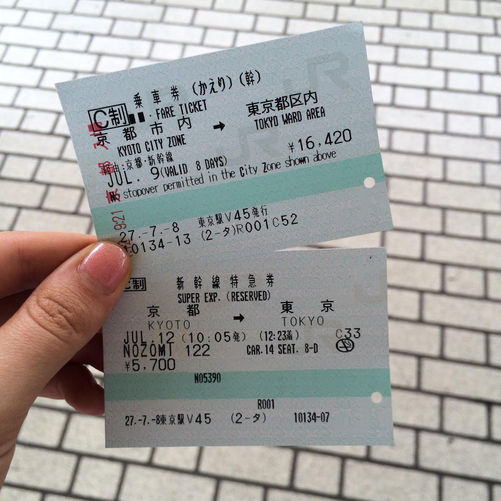 shinkansen train tickets