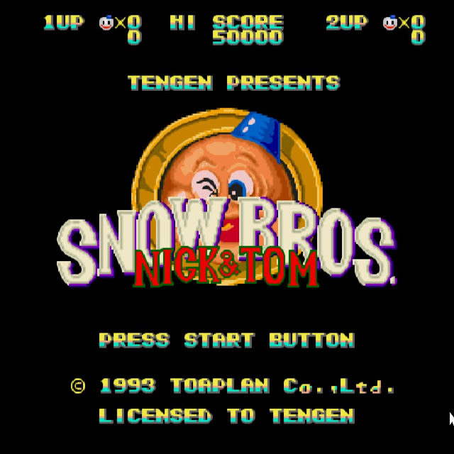 SNOW BROS 1 Cover Photo