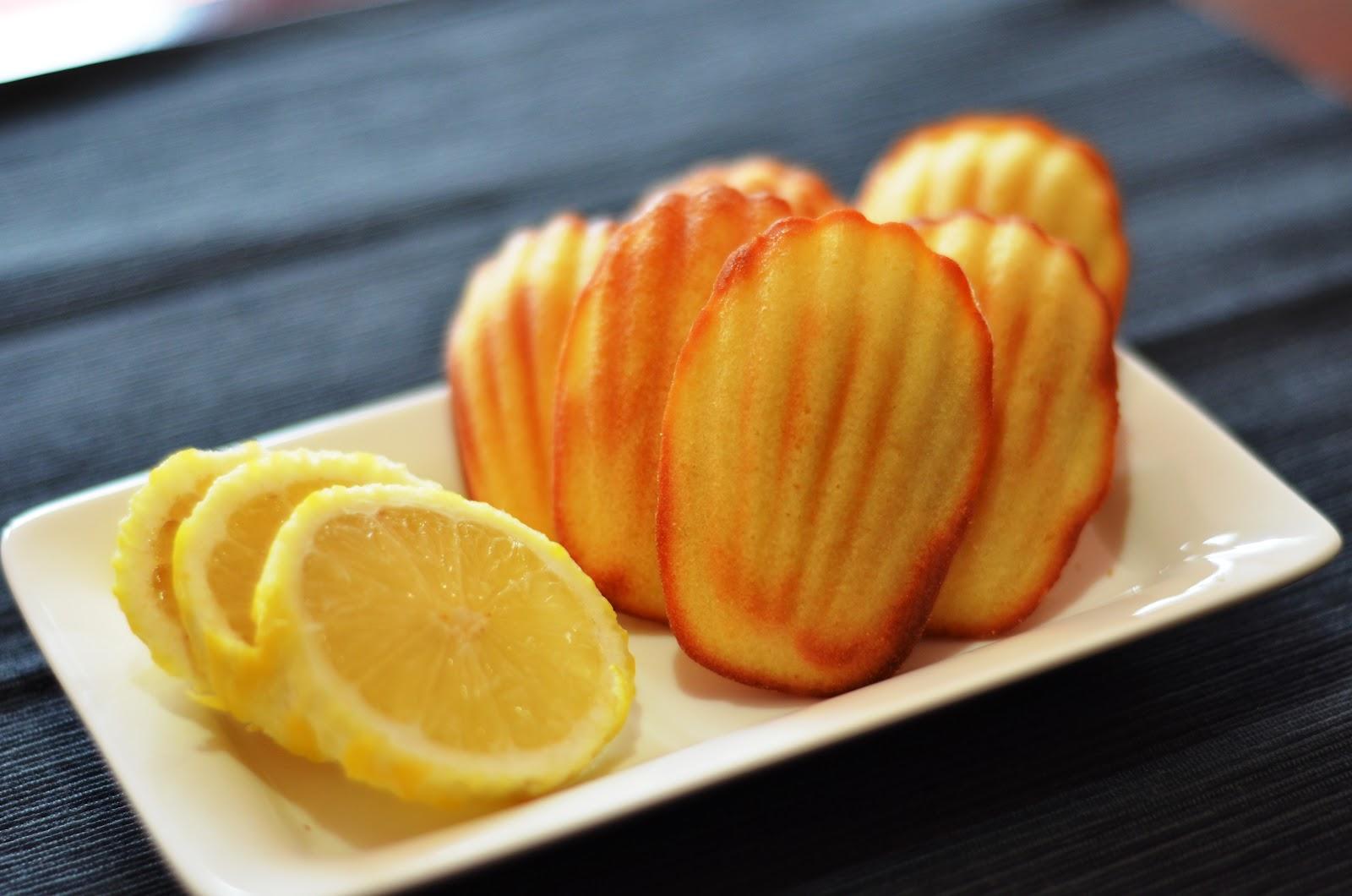 Lemon Madeleine Cake