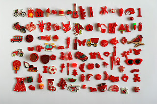 red TomToy Colorful I spy trinkets, Rainbow miniatures, Rainbow I spy bag filler, Colors I spy bottle, Color sorting activities, Color matching games