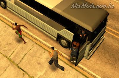 gta sa mod cleo bus passengers ônibus passageiros
