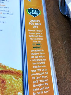 Fit Fare menu Denny's