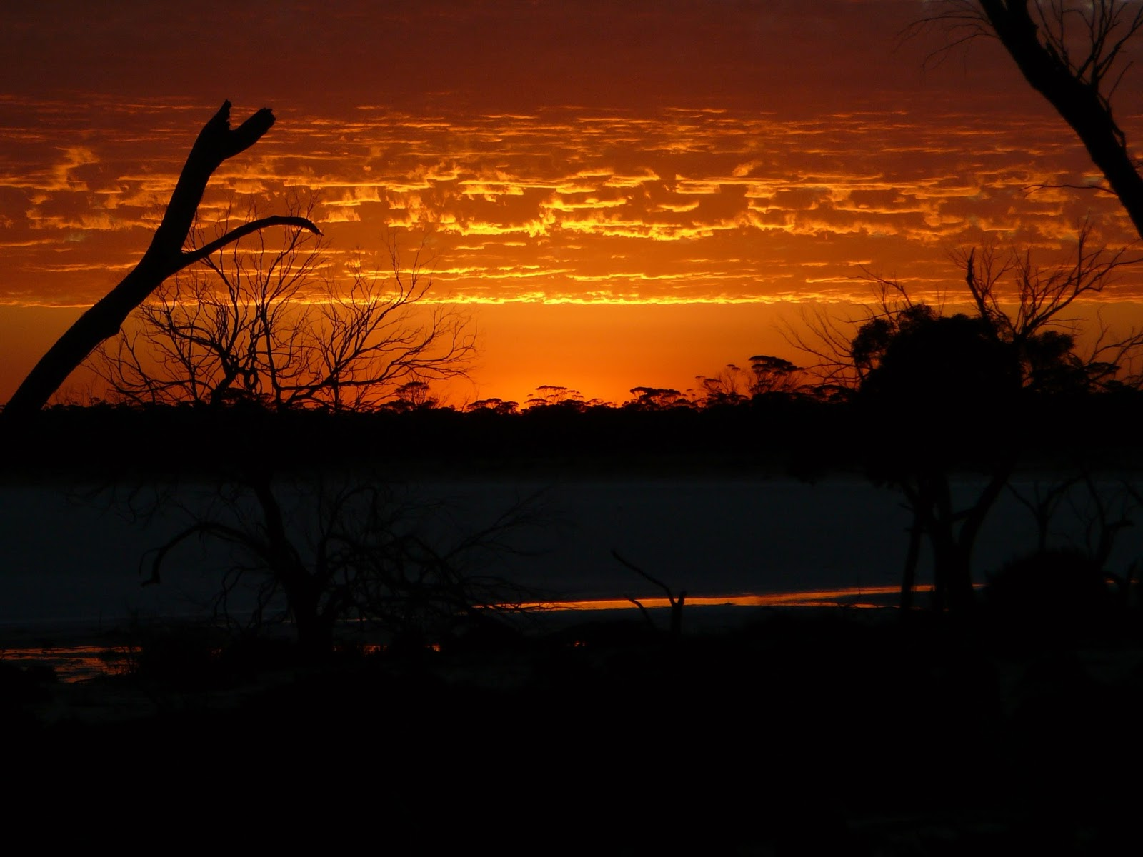 Incredible fiery sunset in Hyden Western Australia