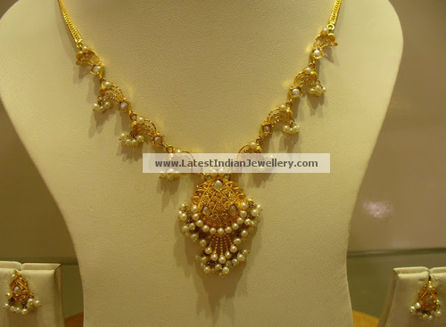 Simple Pearl Necklace Sets Latest Indian Jewellery Designs