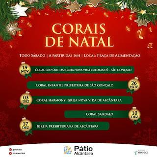 Para celebrar o Natal, Shopping Pátio Alcântara apresenta o 'Coral Infantil da Prefeitura de São Gonçalo'
