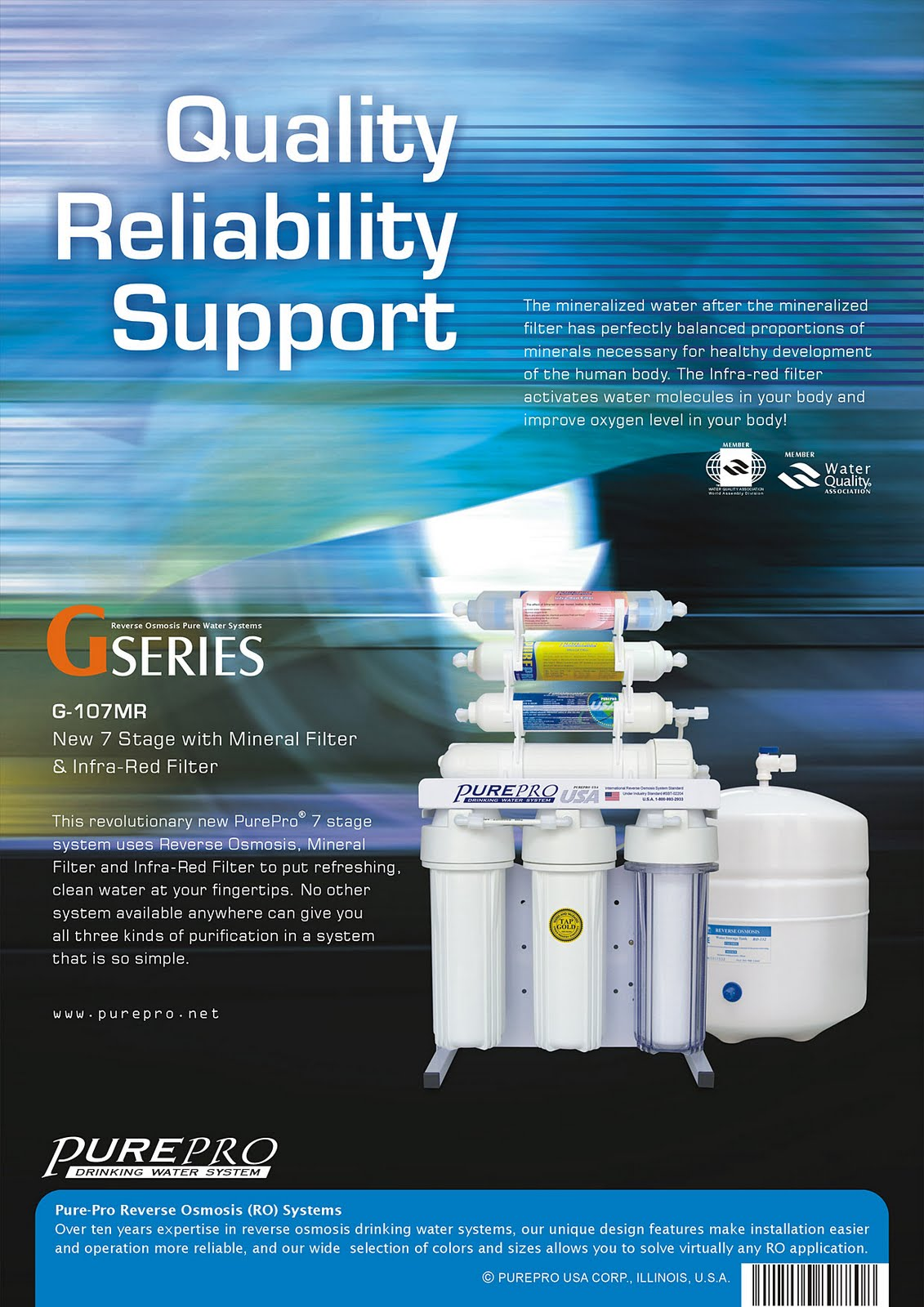 PurePro® G-107MR Reverse Osmosis Water Filtration System