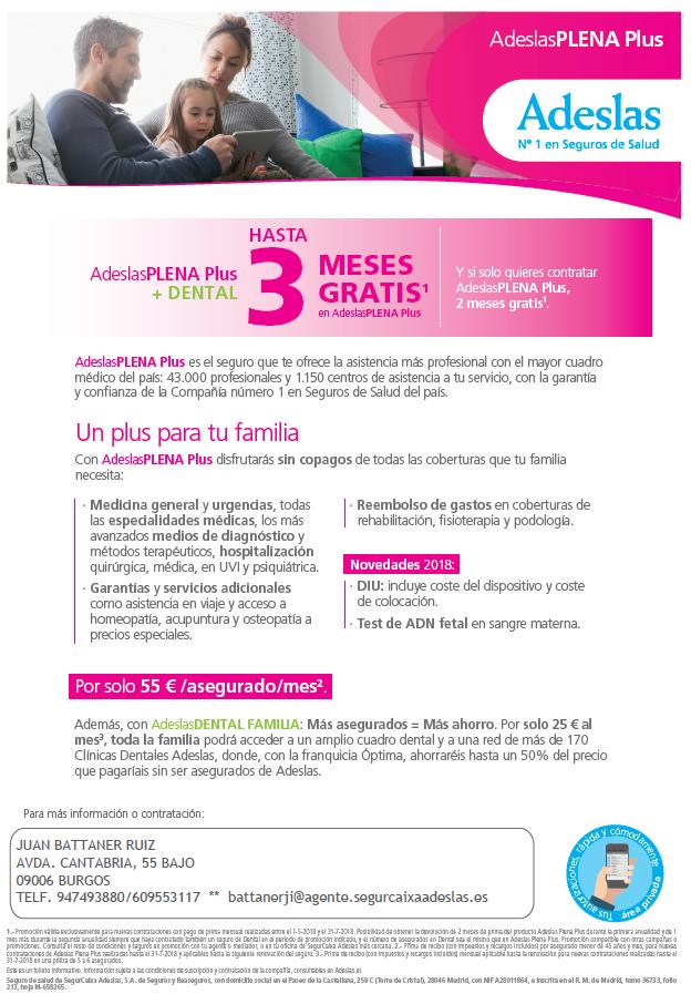 Oferta Seguro Salud Adeslas 2018
