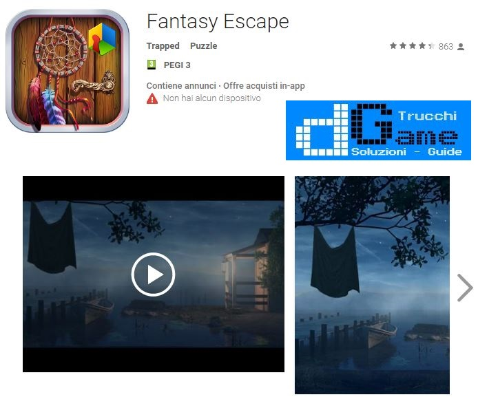 Soluzioni Fantasy Escape livello 1 2 3 4 5 6 7 8 9 10 | Trucchi e Walkthrough level
