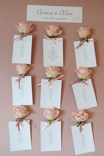 Asignar los asientos en una boda_rosas
