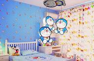 20 Contoh Wallpaper Dinding Kamar Doraemon Motif Cemerlang