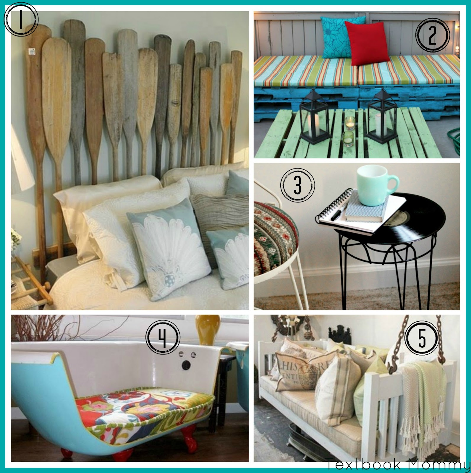 Textbook Mommy: 5 Unique Repurposed Projects For The Home