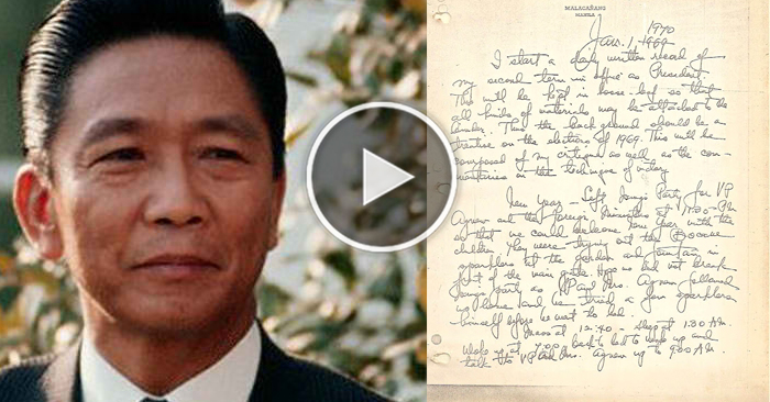 SHOCKING: Diary of Former President Ferdinand Marcos Proof that His Wealth was Given to the Filipino
