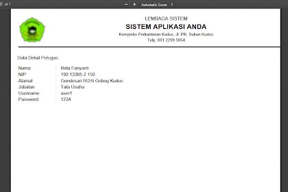 CARA MEMBUAT CETAK PDF DENGAN HTML2PDF ( TCPDF ) - Bagian 2