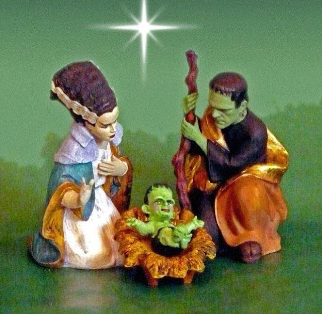 Frankenstein's Monster Nativity Picture