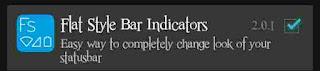 Module flat style bar indicators