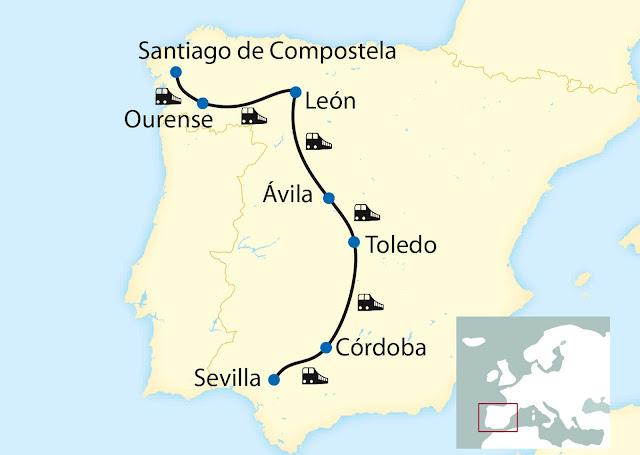 Al Andalus: Exklusivcharter Spanien, Santiago de Compostela Sevilla